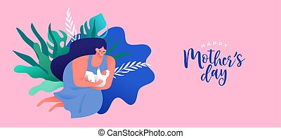 Happy Mother's Day card of mom with baby