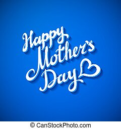 happy mothers day card. vector illustration