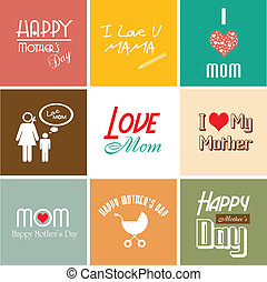 Happy mother's day card with font