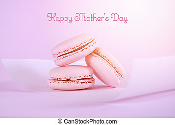 Happy Mothers Day gift of pink macaroons