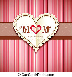 Happy mothers day greeting card design background, vector...