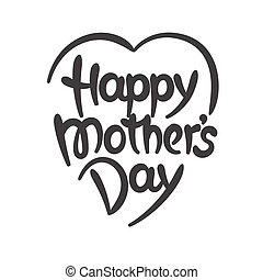"""""""Happy mother's day"""" hand-drawn lettering"""