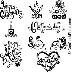 Happy Mothers Day hand drawn vector