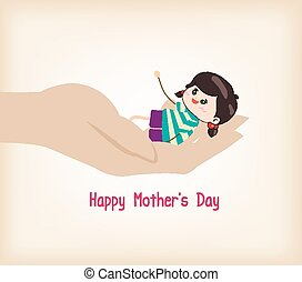 happy Mothers day hand