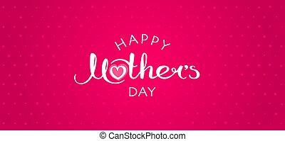 Happy Mother's Day handwritten inscription