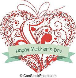 happy mothers day heart ornament