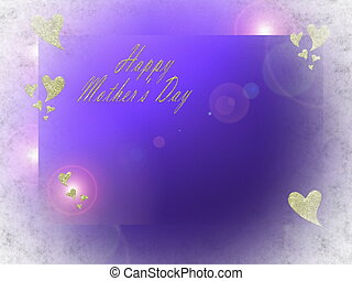 happy mothers day in letters and gold hearts