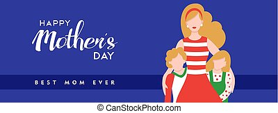 Happy mothers day quote banner for best mom