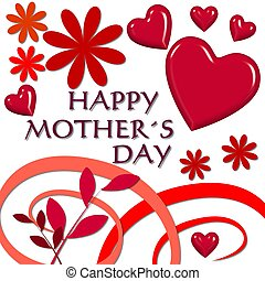 happy mothers day red