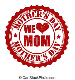 Happy mother's day stamp - Happy mother's day grunge rubber ...