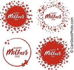 Happy mother's day stamp. Red round grunge vintage mother's day sign. Vector