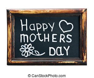 Happy mothers day - Happy mother written in chalk on a...