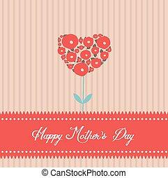 happy mothers day tree heart