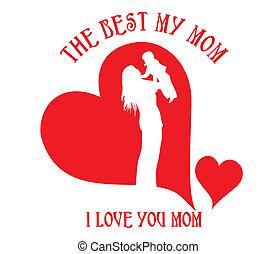 happy mothers day vector art