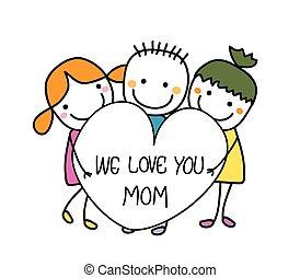 We love mom Illustrations and Stock Art. 17 We love mom ...