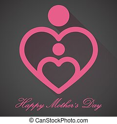 Happy Mothers Day, vector