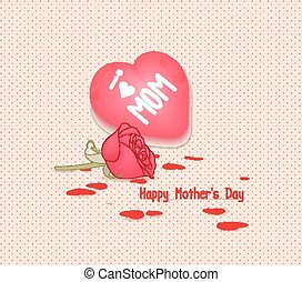 Happy mothers day with heart
