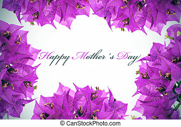 happy mothers day written on a background with purple...