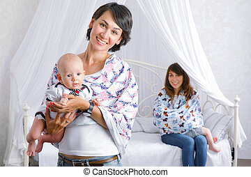happy mothers with their child