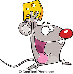 Happy Mouse Cartoon Character
