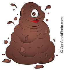 Happy Mud Monster Vector Art - Creative Conceptual Artistic...