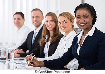 Happy Multiethnic Businesspeople