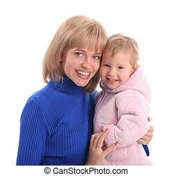 Happy mum with a daughter 10