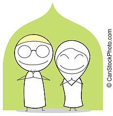 happy muslim couple