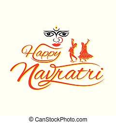 Happy Navratri festival Celebration Poster