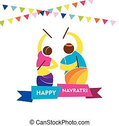 happy navratri festival design