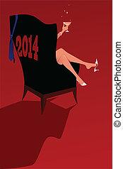 Happy new 2014 year background