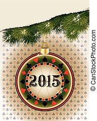 Happy new 2015 year casino poker