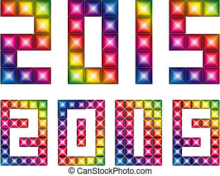 Happy new 2015 year-Vector - Happy new 2015 year with LED...