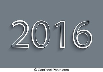 Happy new 2016 year design with gears. Creative background for your design
