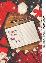 Happy New 2017 year note