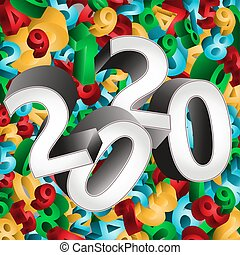 Happy New 2020 Year background, vector illustration