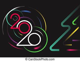 Happy new 2020 year vector concept