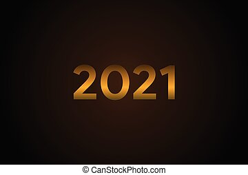 Happy New 2021 Year Elegant Design with 3D Effect Light