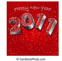 A sparkling new years card for 2011 in winter colors.