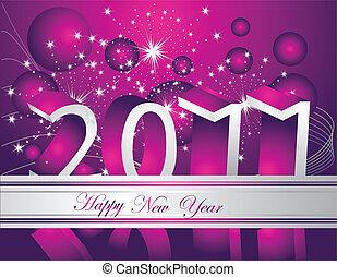 Happy New Year 2011 background