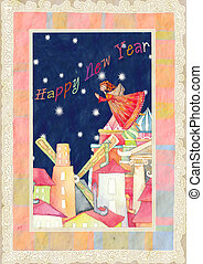 happy new year 2011 - good illustration of the new year with...