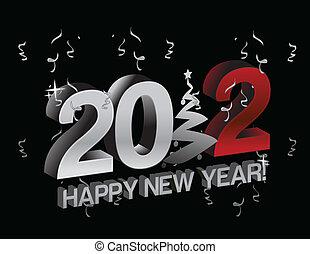 happy new year 2012 tree sign