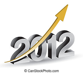 Happy new year 2012 with rising