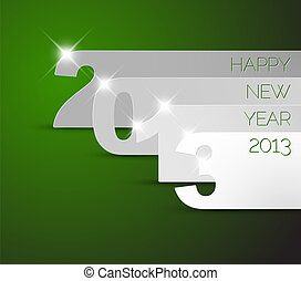 Happy New Year 2013 green vector card