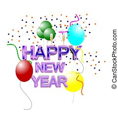 happy new year 2013 - happy new year concept in 3d with ...