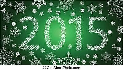 happy new year, 2013, od, zlatý hřeb, s, neposkvrněný, sněhové vločky