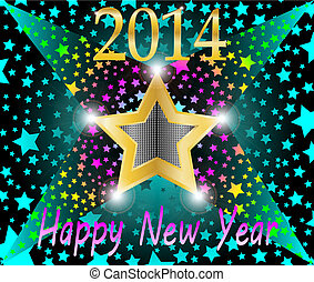 Happy new year 2013 shooting star