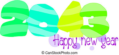 Happy new year 2013 - vector illustration.