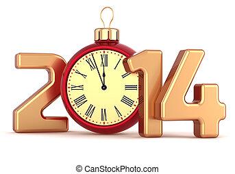 Happy New Year 2014 alarm clock
