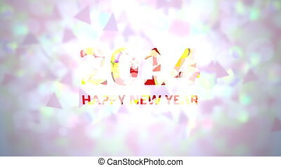 Happy new year 2014 background.